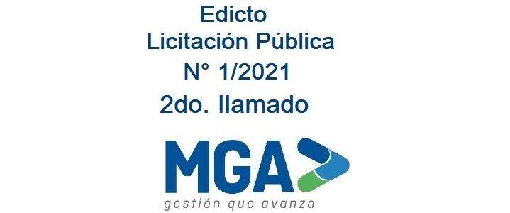 Edicto Licit N° 1 - 2021 img 2do llamado